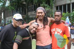 Multi FPRAMAs winning musician KNOX with other Fijian musicians at the Rise UP Fiji Concert